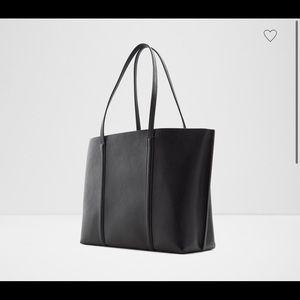 Black Pleather Aldo Tote Bag